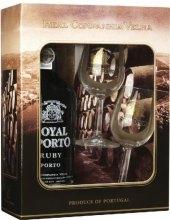 Víno červené Ruby Royal Oporto Real Companhia Velha - dárkové balení