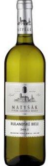Víno Rulandské bílé Vinařství Matyšák
