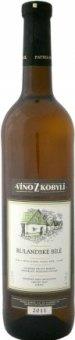 Víno Rulandské bílé Víno z Kobylí - pozdní sběr