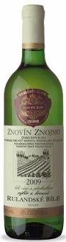 Víno Rulandské bílé Znovín Znojmo - výběr z hroznů