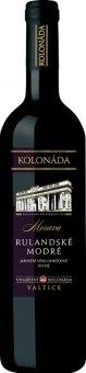 Víno Rulandské modré Vinařství Kolonáda Valtice
