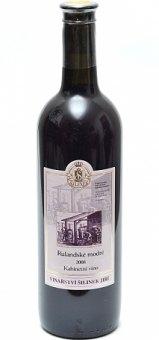Víno Rulandské modré Vinařství Z. Šilinek - výběr z hroznů