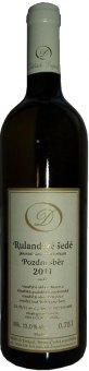 Víno Rulandské šedé Oldřich Drápal - pozdní sběr