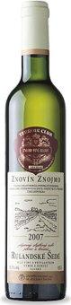 Víno Rulandské šedé Znovín Znojmo - výběr z bobulí