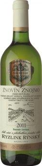 Víno Ryzlink rýnský Terroir Levure Znovín Znojmo - pozdní sběr