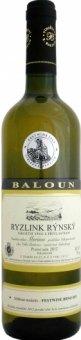 Víno Ryzlink rýnský Vinařství Baloun