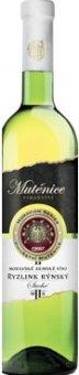 Víno Ryzlink rýnský Vinařství Mutěnice - zemské