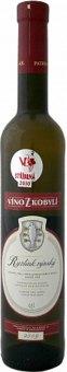 Víno Ryzlink rýnský Víno z Kobylí - výběr z bobulí