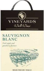 Víno Sauvignon Blanc Vineyards World Wines - bag in box