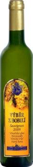 Víno Sauvignon Chateau Valtice - výběr z bobulí