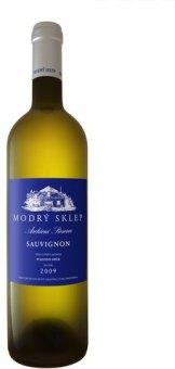 Víno Sauvignon Modrý sklep Šaldorf - pozdní sběr