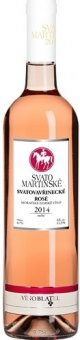Víno Svatovavřinecké Rosé Vinařství Blatel - svatomartinské