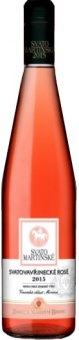 Víno Svatovavřinecké Rosé Zámecké vinařství Bzenec - svatomartinské