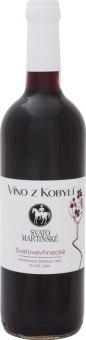 Víno Svatovavřinecké Víno z Kobylí - svatomartinské