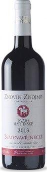 Víno Svatovavřinecké Znovín Znojmo - svatomartinské