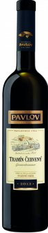 Víno Tramín červený Vinařství Pavlov - pozdní sběr