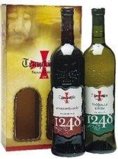 Víno Veltlínské zelené a Svatovavřinecké Templářské sklepy Čejkovice - dárkové balení