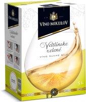 Víno Veltlínské zelené Mikulov - bag in box