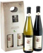 Víno Veltlínské zelené + Modrý portugal Templářské sklepy Čejkovice - dárkové balení