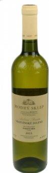 Víno Veltlínské zelené Modrý sklep Šaldorf - pozdní sběr