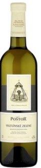 Víno Veltlínské zelené Poštor Velké Pavlovice
