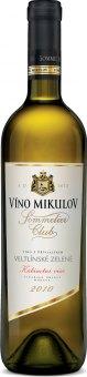 Víno Veltlínské zelené Sommelier Club Víno Mikulov - kabinetní