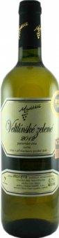 Víno Veltlínské zelené Vinařství Maděřič - pozdní sběr