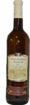 Víno Veltlínské zelené Vinařství Rajhradské Klášterní - pozdní sběr