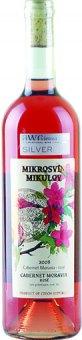 Víno Cabernet Moravia Rosé Mikrosvín Mikulov - pozdní sběr