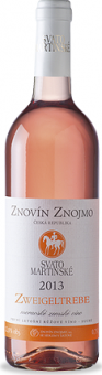 Víno Zweigeltrebe Rosé Znovín Znojmo - svatomartinské