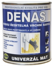 Vodou ředitelná vrchní barva Denas Uni Mat