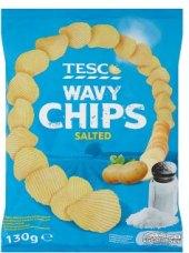 Chipsy vroubkované Tesco