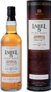 Whisky 12 YO Label