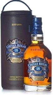 Whisky 18 YO Chivas Regal - kožená brašna