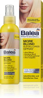 Zesvětlovač na vlasy ve spreji More blond Professional Balea