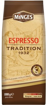 Zrnková káva Espresso Minges