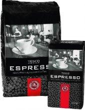 Zrnková káva Espresso Tesco