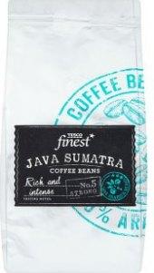 Zrnková káva Java Sumatra Tesco Finest