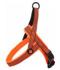 Postroj active dog neoprene s oranžový 1,5x45-55cm