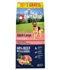 Ontario Adult Large Beef & Rice 15+5 kg 20kg