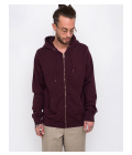 Colorful Standard Classic Organic Zip Hood Oxblood Red S