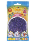 Hama Midi - průhledné fialové korálky 1000 Ks