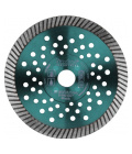 Kotouč diamantový řezný turbo Fast Cut, 125x22,2mm, suché i mokré řezání EXTOL INDUSTRIAL