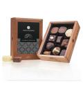 Chocolissimo - Elegance Mini bez alkoholu - Pralinky v dřevěné krabičce 125 g